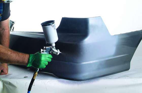 Чем подкрасить бампер своими руками